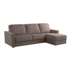 Wales Right Chaise Longue Sofa Bed, Tobacco