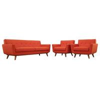 3-Pc Sofa Set in Atomic Red