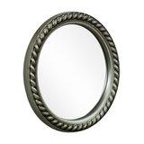 Silver Rope Effect Round Wall Mirror 25.5cm x 25.5cm