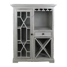 Wine Server in Antique Gray Finish
