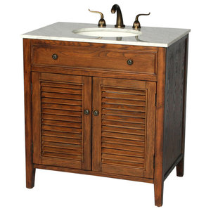 32 Inch Cottage Style Single Sink Bathroom Vanity Model 1128 Sk