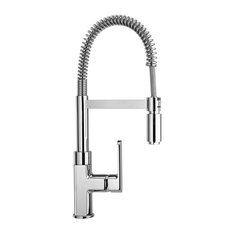 Piralla Ovo Kitchen Tap With Spring and Swivel Spout, Chrome