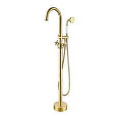 Vanity Art Brushed Bronze Freestanding Faucet
