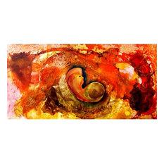 """Galaxy- Embryo"" Oil, Acrylic, Tar Canvas Painting"