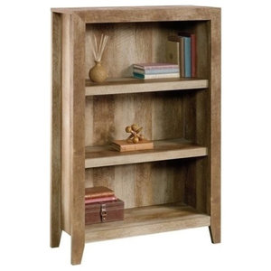 Terrific Modern Oak Finish 3 Shelf Bookcase With 2 Adjustable Shelves Download Free Architecture Designs Rallybritishbridgeorg