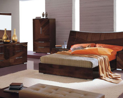 Made in Italy Wood High End Contemporary Furniture with Extra Storage - Beds