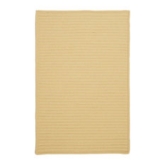 Colonial Mills, Inc - Colonial Mills Simply Home Solid H833 Pale Banana Rug, 8x11 - Outdoor Rugs