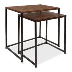 Solis 2-Piece Nesting Side Tables, Black 2 Piece