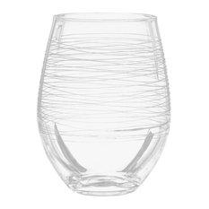 Graffiti Stemless White Wine Glasses, Set of 4