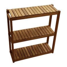Teak 3-Tiered Shelf