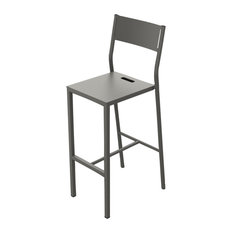 Zef Bar Stool, Steel, Taupe