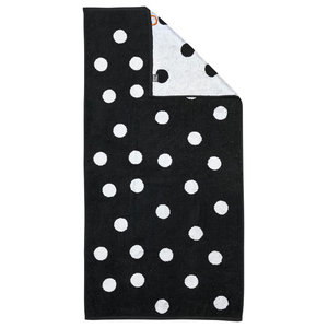 Dots Beach Towel, Black and White