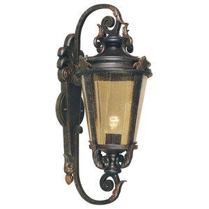Large Traditional Wall Lantern, Weathered Bronze
