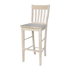 International Concepts Cafe Stool 30-inchSh Unfinished