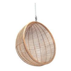 Bali Rattan Hanging Ball Chair, Natural