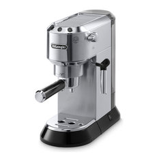 Dedica 15-Bar Pump Espresso Machine With Cappuccino System, Stainless Steel