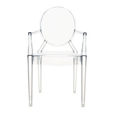 Kartell LouLou Ghost Chair, Transparent Crystal, Set of 4