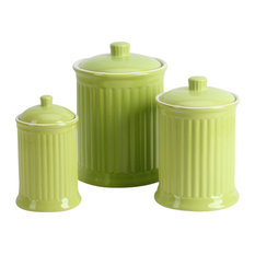 Simsbury 3-Piece Canisters Set, Citron