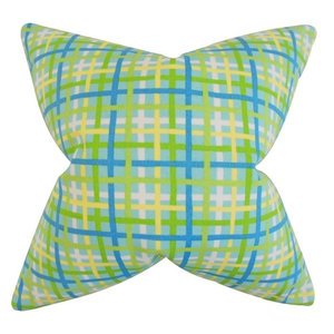 The Pillow Collection Hye Plaid Throw Pillow Cover