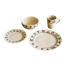 West Creation - 16-Piece Branded Dinnerware Set - Dinnerware Sets  sc 1 st  Houzz : southwest dinnerware patterns - pezcame.com