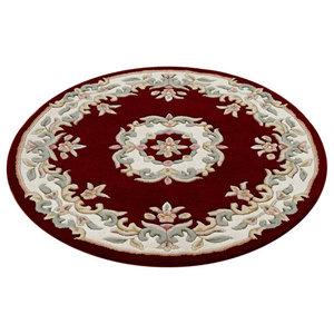 Mahal Round Rug, Red, 120 cm Round