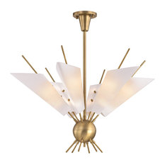 Cooper 12 Light Chandelier in Aged Brass