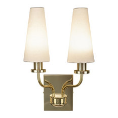 1st Avenue - Mea 2-Light Brass Wall Sconce With Shades - Wall Sconces