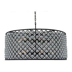 round black chandelier farmhouse lightupmyhome cassiel round drum crystal chandelier extra large black chandeliers large houzz