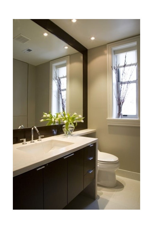 Recessed lights above vanity? on