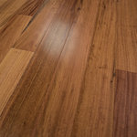 """Hurst Hardwoods - Amendoim Prefinished Engineered Wood Flooring, Sample - This listing is for two 9"""" long sample pieces of our popular  5"""" x 1/2"""" Amendoim Prefinished Engineered wood floor. This exotic wood flooring offers beautiful aesthetics to compliment your home's interior space. Featuring a 7-ply construction, tongue & groove milling profile, smooth texture, and micro-beveled edges/ends for easy installation, this engineered hardwood floor is both CARB Phase II certified & Lacey Act compliant. This flooring also boasts an 11-coat Aluminum Oxide finish, making it highly scratch resistant. Actual flooring planks come in 1' to 7' random lengths. Installation methods include glue, float, nail or staple down. Comes with a 30 Year Finish Warranty. For more information, please refer to our Terms & Policies for statements on moisture control, radiant heat, shipping, damage, and returns. For over 25 years, Hurst Hardwoods has been a national leading hardwood flooring wholesaler."""