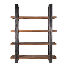 Industrial Open Wooden Bookcase (M) | Eleonora Mango
