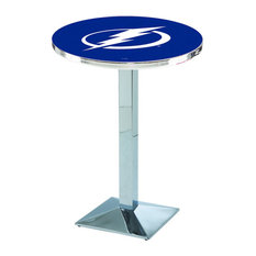 L217 - 36-inch Chrome Tampa Bay Lightning Pub Table by Holland Bar Stool Co. by Holland Bar Stool Company