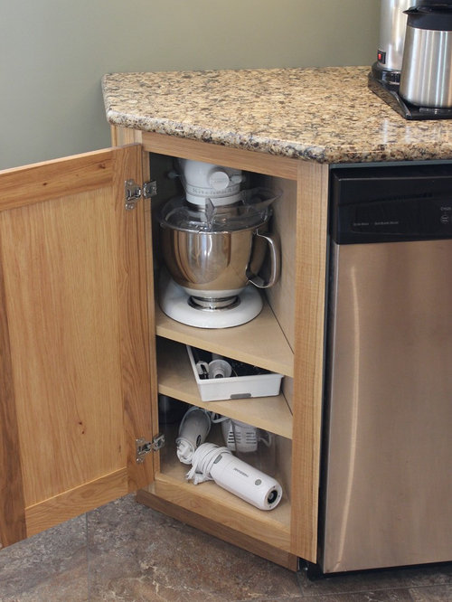 Angled End Cabinet | Houzz