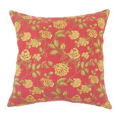 Xipil Floral Floor Pillow Red