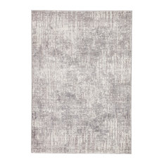 "Jaipur Living Hartland Abstract Light Gray/White Area Rug, 7'10""x10'2"""