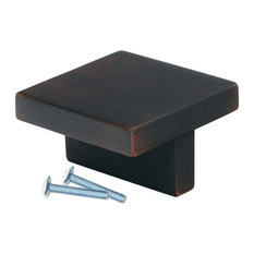 """2 Pack Modern Square T Style Brushed Oil-Rubbed Bronze Cabinet Knob 1-21/32"""""""
