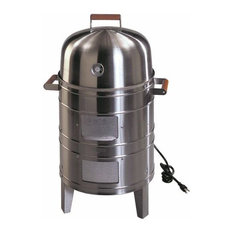 Stainless Steel Electric Water Smoker With 2 Levels of Cooking Surface