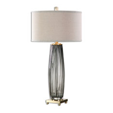 Uttermost Vilminore Glass Table Lamp, Gray