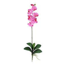 Nearly Natural Phalaenopsis Stem, Set of 12, Dark Pink