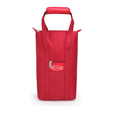 Premium Insulated Wine Bag by DIVIN - holds 2 bottles, Red