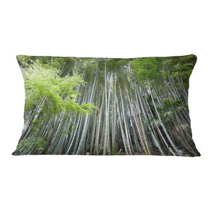Designart CU11176-26-26 Bamboo Kyoto Japan Forest Cushion Cover for Living Room Sofa Throw Pillow 26 x 26