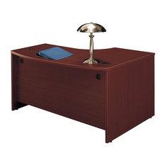 Bush Business Furniture Series C 60x43 LH L-Bow Desk in Mahogany