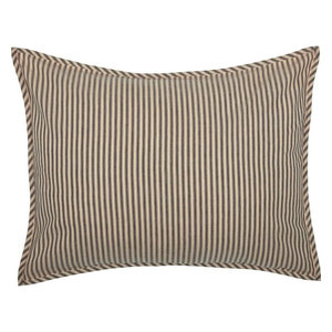 French Country Crimson Red Ticking Stripe Duvet Cover