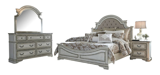 Liberty Magnolia Manor Bedroom Set With King Bed