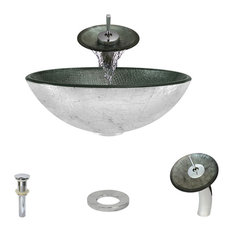 Vessel Sink, Chrome, Waterfall Faucet