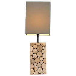rustic table lamps by natural design house - Rustic Table Lamps