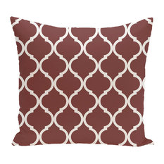 "French Quarter Geometric Print Pillow, Mahogany, 18""x18"""
