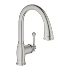 Grohe 33 870 Bridgeford Pull-Down Spray Kitchen Faucet - SuperSteel