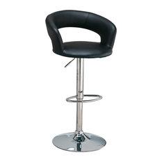 Coaster 29   Upholstered Bar Chair, Black