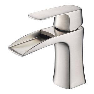 Fresca Fortore Single Hole Mount Bathroom Vanity Faucet, Brushed Nickel
